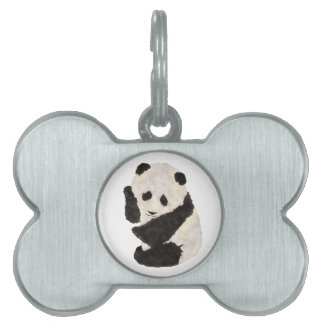 Cute Panda Pet ID Tag