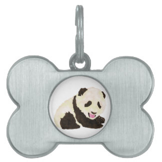 Cute Panda Pet Name Tag