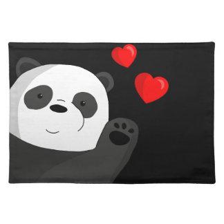 Cute panda placemat