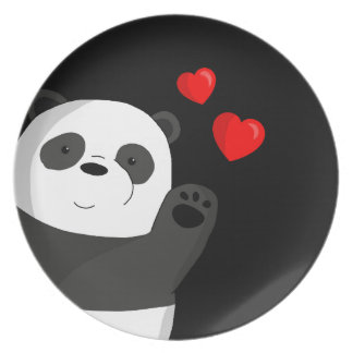 Cute panda plate