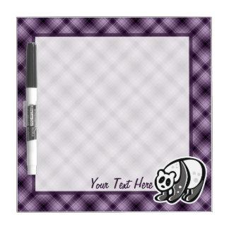 Cute Panda; Purple Dry Erase Board