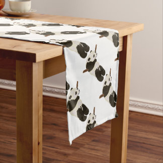 Cute Panda Short Table Runner