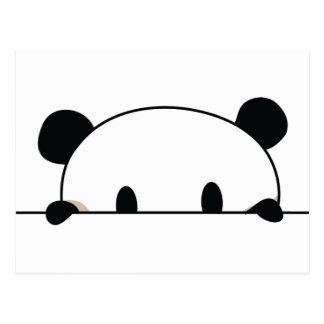 Cute panda spy postcard