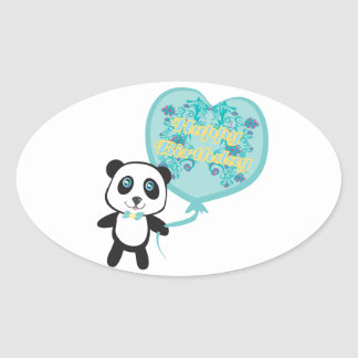 Cute panda with balloon Sticker