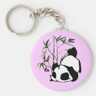 Cute Panda with Bamboo Key-Chain Keychain