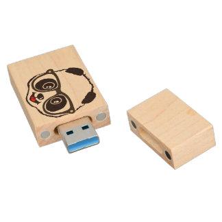 Cute Panda Wood USB Flash Drive
