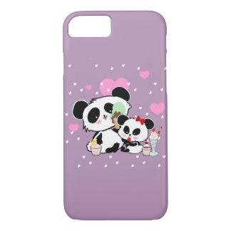Cute Pandas Bear Picnic icecreams cakes iPhone 7 Case