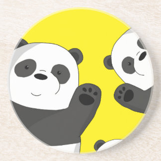 Cute pandas coaster