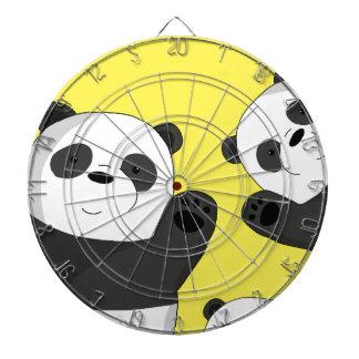 Cute pandas dartboard