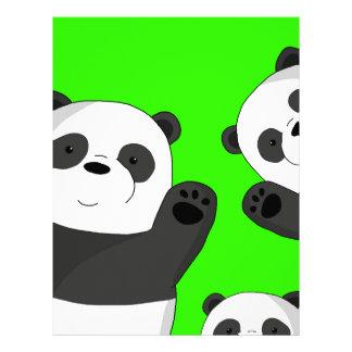 Cute pandas letterhead