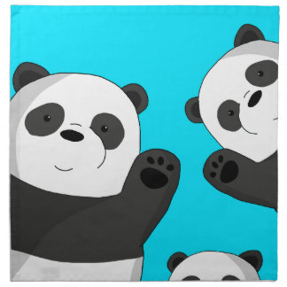 Cute pandas napkin