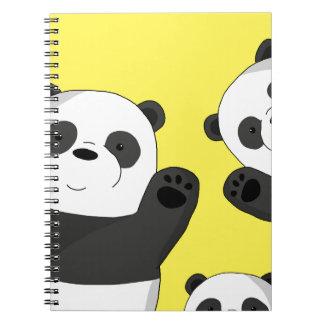 Cute pandas notebooks