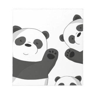 Cute pandas notepad