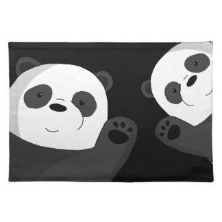 Cute pandas placemat