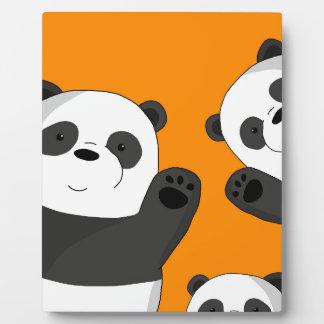 Cute pandas plaque