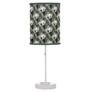 Cute Pandas Table Lamp, Green and White Desk Lamps