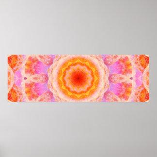 Cute Panoramic Mandala Poster