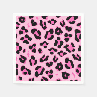 Cute panther skin print party paper napkin