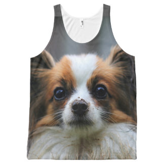 Cute Papillon Toy Spaniel Dog Photography Print All-Over-Print Tank Top