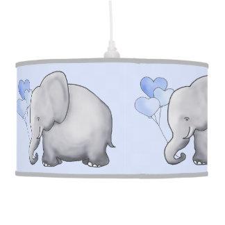Cute Parading Heart Balloons Elephants Nursery Pendant Lamp
