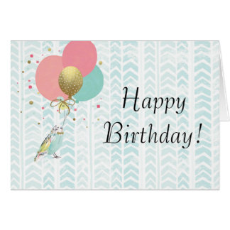 Cute Parakeet Birthday Greeting Card