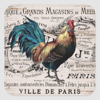 Cute Paris rooster any purpose sticker
