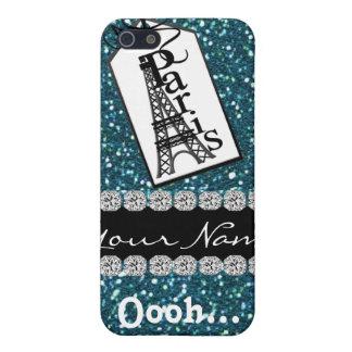 Cute Paris TEAL Theme I iPhone 5 Cases
