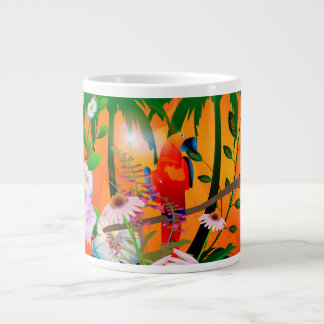 Cute parrot large coffee mug
