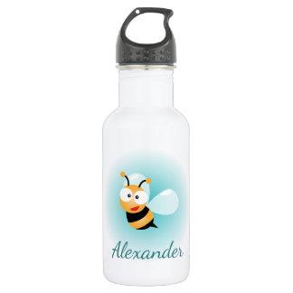Cute Pastel Blue Green Sweet Bumble Bee Cartoon 532 Ml Water Bottle
