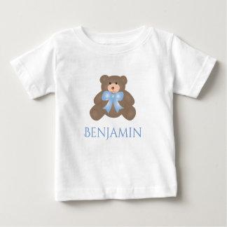 Cute Pastel Blue Ribbon Sweet Teddy Bear Baby Boy Baby T-Shirt