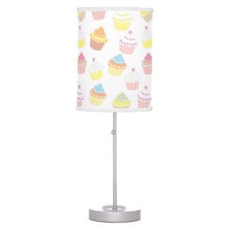 Cute Pastel Cupcake Pattern Table Lamp