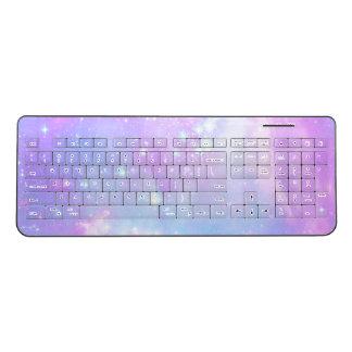Cute Pastel Galaxy Wireless Keyboard