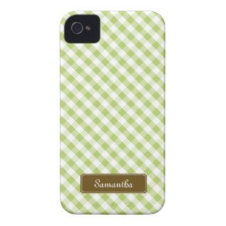 Cute Pastel Green Gingham Pattern Case-Mate iPhone 4 Case