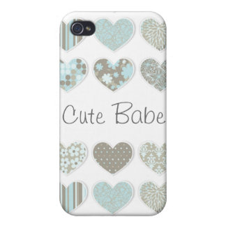 Cute Pastel Hearts  Cover For iPhone 4