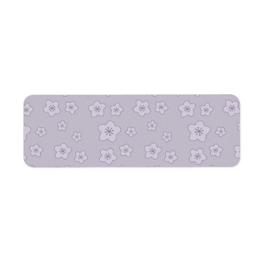 Cute Pastel Lavender Silver Cherry Blossom Pattern