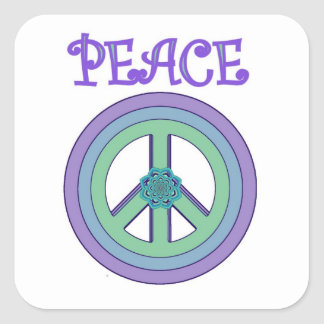 Cute Pastel Lotus Peace Symbol Sticker