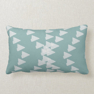 Cute Pastel Mint Abstract Random Arrows Pillow