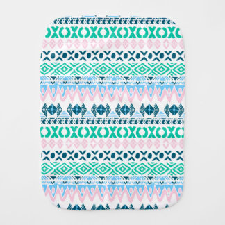 Cute pastel navaho art patterns burp cloth