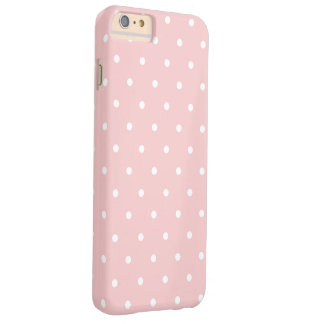 Cute Pastel Pink and White Polka Dot Barely There iPhone 6 Plus Case