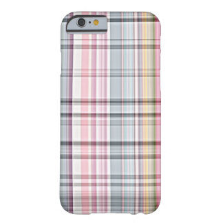 Cute Pastel Pink Blue Retro Tartan Plaid Pattern Barely There iPhone 6 Case