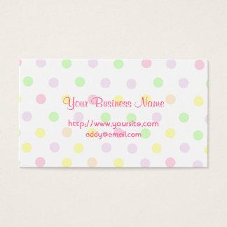 Cute Pastel Polka Dot Design Business Card