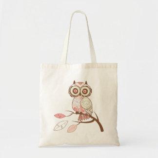Cute Pastel Tones Owl Tote Bag
