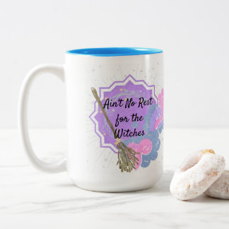 Cute Pastel Two-Tone Magical Witches Coffee Mug