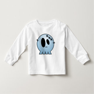 CUTE PATCHY SKULL - BLUE TEE SHIRTS