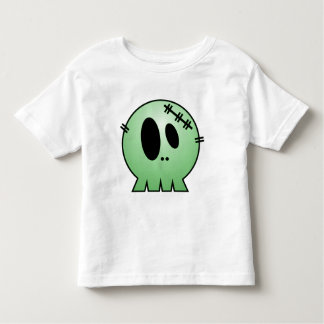 CUTE PATCHY SKULL - GREEN TEES