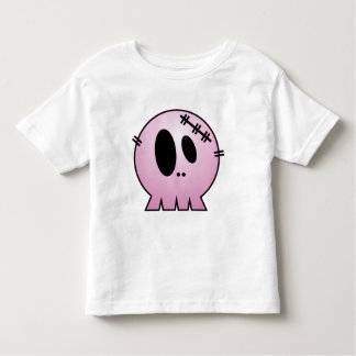 CUTE PATCHY SKULL - PINK T-SHIRTS