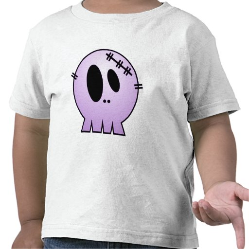 CUTE PATCHY SKULL - PURPLE SHIRTS