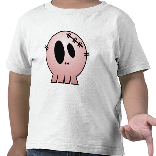 CUTE PATCHY SKULL - RED TEES