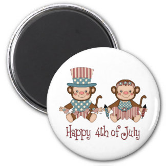 Cute Patriotic and 4th of July Monkey Tees, Gifts Magnet