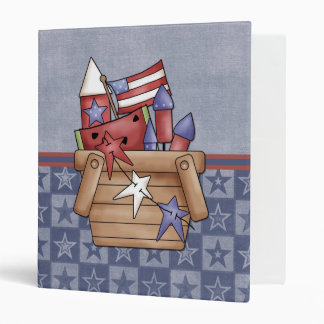 Cute Patriotic Country 4th of July Recipe Binder